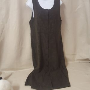 Forest green Christopher banks buttons up dress
